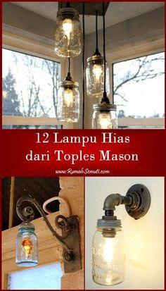 12 Lampu Hias dari Toples Mason
