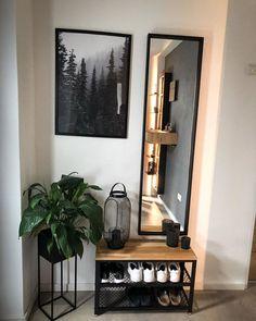Home Living Room, Living Room Designs, Living Room Decor, Bedroom Decor, Hallway Inspiration, Home Decor Inspiration, Deco Studio, Decoration Entree, Home Entrance Decor