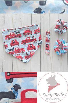 Red Cheetah Bandana Custom Pet Bandana Snap Clip Bandana Dog Bandana