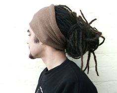 Headband, mens taupe hair wrap, dreadlocks cover up, spring summer accessory.. £10.00, via Etsy.