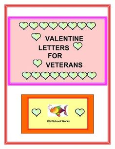 """FREE    Great activity to practice letter writing and to cheer up veterans on Valentines Day.   This product is designed with the information from """"A Million Thanks.""""    The directions and templates that are included follow the website directions for finished letters.  You may also choose to send the letters to organizations or facilities within your own community.  Have a good day."""