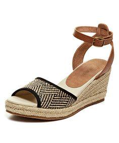 cf475ef68ab5 Soludos Black   Brown Geometric Wedge Sandal