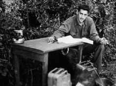 "Old Pics Archive on Twitter: ""The only known photo of J. D. Salinger , writing ""The Catcher in the Rye"" as a WWII soldier / France - Normandy, 1944 https://t.co/wdK6SN1Vua"""