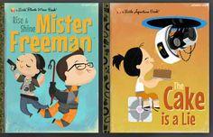 Une série de fausses couvertures de livres pour enfant amateur de jeux-vidéo