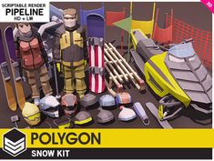 Elevate your workflow with the POLYGON - Snow Kit asset from Synty Studios. Find this & other Characters options on the Unity Asset Store. Unity Tutorials, Kit Games, Video Game Development, 3d Model Character, Unity 3d, Low Poly 3d, Snow Skiing, Game Assets, Characters