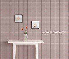 格紋仿布料/磁磚工藝壁紙 紫/藕紫 現 524