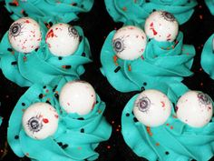 Scary cupcakes/ great for class treats