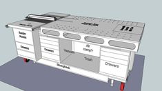 Ultimate Mobile Woodworking Workbench - 3D Warehouse