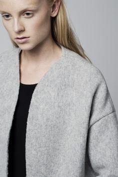 RAW coat wool fabric. Photographed by Kamil Zacharski. www.raw-fashion.com