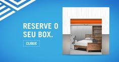 Texto: Quer mais espaço para deixar seus pertences? Alugue um box pelo tempo que precisar.   Título: Moby Self Storage Descrição: O lugar ideal para seus objetos. Reserve agora!  Texto da Arte: Garanta o seu box!