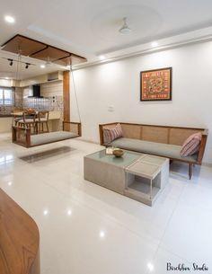 Living Room Partition Design, Living Room Sofa Design, Home Room Design, Simple Hall Interior Design, Home Interior Design, Room Interior, Indian Home Design, Indian Home Interior, Living Room Designs India