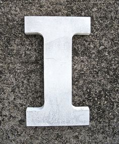 White Letter I for Display by worldvintage on Etsy