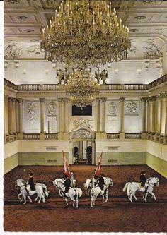 LIPIZZAN HORSE POSTCARD SPANISH RIDING SCHOOL VIENNA AUSTRIA - QUADRILLE