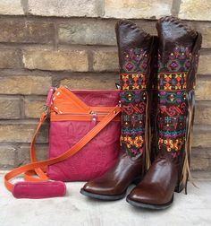 Stunning combo!  Leaders in leather & Johnny Ringo Sagrada collection boots.  Southern Thread Austin, TX.