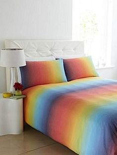 Linea bed linen at House of Fraser, love rainbow things Cute Bedding, Linen Bedding, Bedding Sets, Bed Linens, Rainbow Bedding, Rainbow Bedroom, Bedroom Sets, Bedroom Decor, Bedroom Stuff