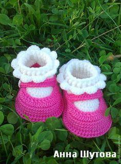 """Купить Пинетки """"туфельки"""" - дети, вязаные пинетки, туфельки, пинетки для новорожденных, для детей, шутовской магазинчик"""