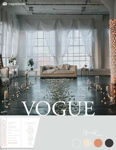 Wedding Color Trends! Vouge color scheme for Summer: Silver, Custom Ivory, Custom Sunset, and Custom Gray. Check out more fantastic color combos at MagnetStreet.com!