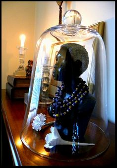 Cloche on a mantle. Hmmm ...