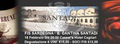 CANTINA SANTADI E FIS SARDEGNA. MERCOLEDI' 18 FEBBRAIO A CAGLIARI - Vini di Sardegna e Cantine - Le Strade del Vino