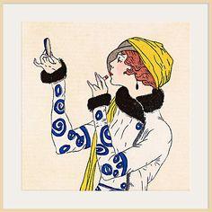, Gazette du Bon Ton - Journal des Dames et des Modes - No.52, 1913 Costumes Parisiens (Detail)