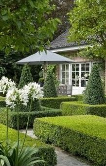 Well manicured garden