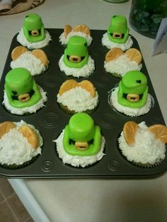 St pattys day cupcakes