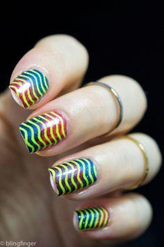 Neon Nail Art Stamping