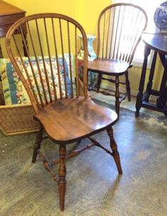 Pair of Windsor Chairs   $100 Pair   Or   $75 Each   Butler Creek Antiques Dealer #8804  Lucas Street Antiques 2023 Lucas Dr. Dallas, TX 75219  Like us on Facebook: https://www.facebook