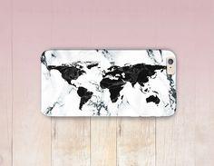 World Map marbre Print téléphone cas cas-iPhone 6 - iPhone 5 - iPhone 4 - Samsung S4 affaire - 5C - Tough Case iPhone - Matte cas