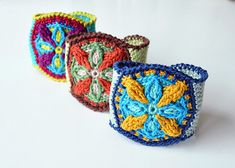 This Mandala Bracelet will truly become a modern and bright accent in a wide variety of your outfits. This project is quick and colorful, and it gives an excellent chance to learn the basics of overlay crochet. The bracelet consists of a round medallion and a crocheted strap with a button.