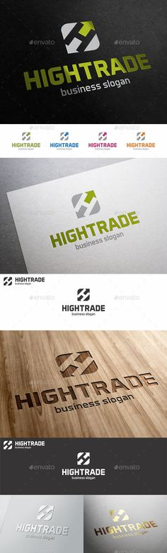 High Trade H Letter Logo Template - H Logo Letter – High / Hyper Trade ( arrow up ) Logo – An excellent logo template suitable for finance and market related, management and consulting businesses, insurance companies, delivery, logistic, shipping, real estate or companies that provide service statistics, polling firms ; This is a great logo for an internet marketing business, someone who deals with stats and analytics or forecasting.