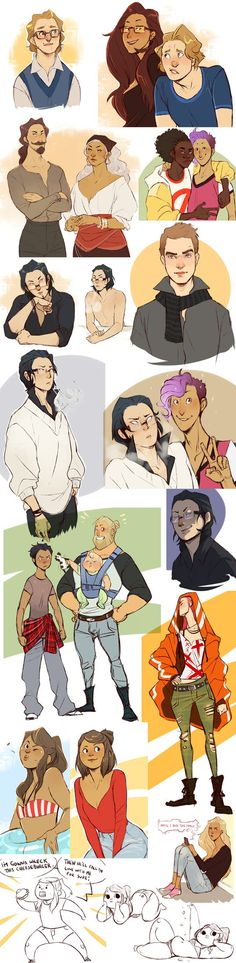 Alexander, Angelo, Freda, Iyad, Russel, Melvin and Jao. Mostly Alex this time Working out characters slowly.