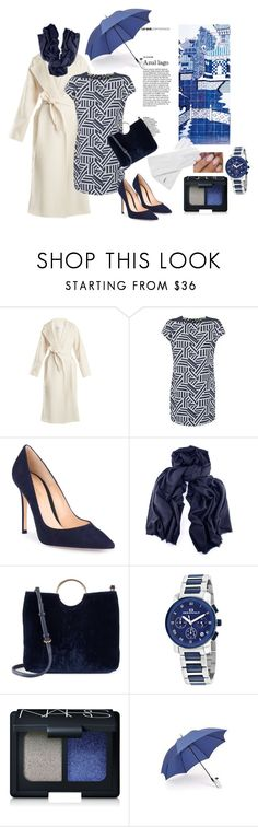 """Blue"" by ladyscarlet01 ❤ liked on Polyvore featuring MaxMara, Benetton, Gianvito Rossi, Black, LC Lauren Conrad, Oceanaut, NARS Cosmetics and Gizelle Renee"