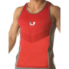 Junk Underjeans UJ Curl Tank Top Red (T4574) Gym Wear, Workout Wear, Mens Fitness, Athletic Tank Tops, Tank Man, Stylish, Casual, Red, Mens Tops