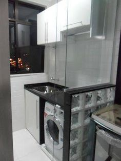 Home Decoration Sale Clearance Laundry Decor, Laundry Room Design, Laundry Area, Laundry Rooms, Small Apartments, Small Spaces, Little Houses, Home Interior Design, Home Kitchens