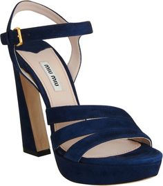Miu Miu | Blue Curved Heel