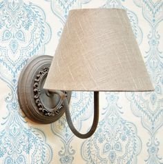 Spa grey oval wall light fitting