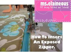 How to Insert an Exposed Zipper Pattern  Welcome to Craftsy! Learn it. Make it. - via @Craftsy