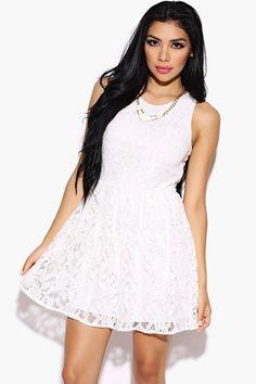 Dove White Party Dress