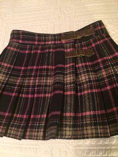 Johnnie B Boden Skirt Plaid Pleated Size 24 | eBay