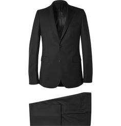 GIVENCHY Black Slim-Fit Stretch-Wool Suit. #givenchy #cloth #suits