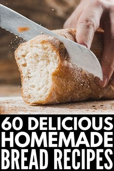 60 Easy and Delicious Homemade Bread Recipes to Try - Fat Lose Diet Gluten Free Bread Maker, Bread Maker Recipes, Tasty Bread Recipe, Healthy Homemade Bread, Healthy Bread Recipes, Sin Gluten, Honey Beer Bread, All You Need Is, Dinner Bread