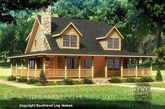 Wrap+Around+Porch+Floor+Plans | Log Home Floor Plans | Southland Log Homes Log Home Floor Plans - The ... #SouthlandLogHomes