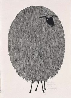 I used to have a book of these prints; Jacques Hnizdovsky - The Sheep, woodcut, 1961 Art And Illustration, Inspiration Art, Art Inspo, Grafik Design, Art Plastique, American Art, Printmaking, Illustrators, Art Photography