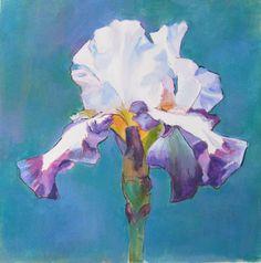 Iris in opaque watermedia