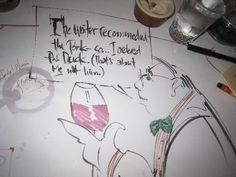 How do you know the waiter shares you taste?
