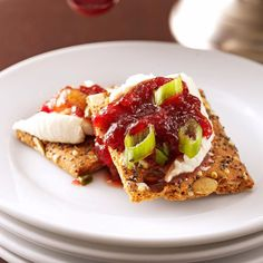 Cranberry-Chili Cheese Spread Recipe -Appetizers just can't get much easier than this ritzy-looking cheese spread with its refreshing hint of lime. I turn to this recipe whenever unexpected guests drop in. —Laurie LaClair, North Richland Hills, Texas
