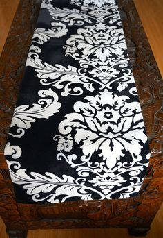 Hey, I found this really awesome Etsy listing at https://www.etsy.com/listing/212644969/white-and-black-velvet-damask-table
