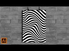 In this tutorial, I will show you how to use the Envelope Distort Option on Adobe Illustrator to make some nice Wave Line Effect. This is simple Optical Art . Adobe Illustrator Tutorials, Photoshop Illustrator, Design Tutorials, Art Tutorials, Pop Art Tattoos, Color Script, Bussiness Card, Affinity Designer, Photoshop Tutorial