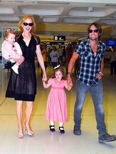 Nicole Kidman, Keith Urban & family